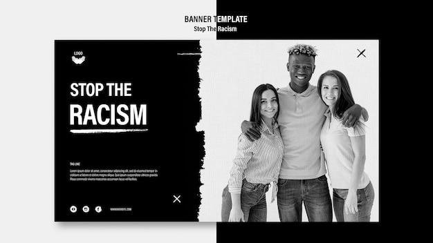 Smettere di modello di banner di razzismo