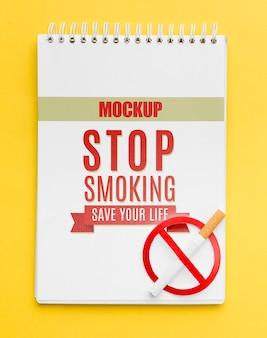 Smettere di smocking concept mock-up