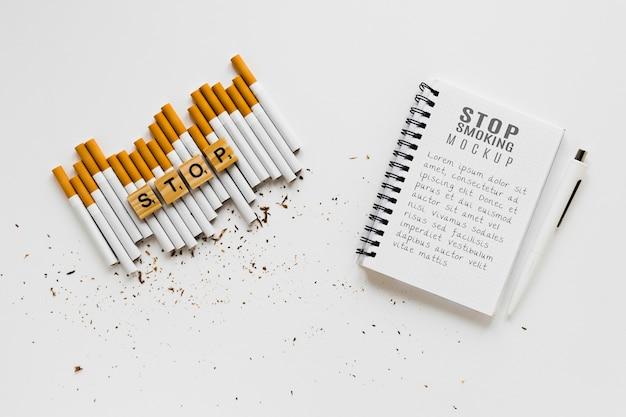 Smetti di fumare il concetto di mock-up