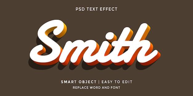 Smith bewerkbaar 3d-stijl teksteffect