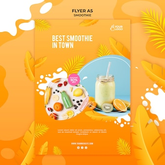Smoothie flyer sjabloon thema