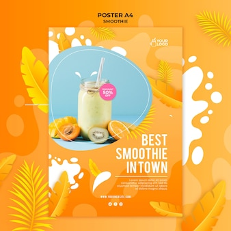 Smoothie poster sjabloon