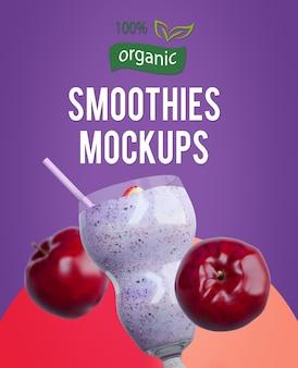 Smoothies-mock-ups met fruit