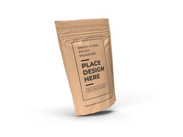 Snack zakje verpakking mockup ontwerp geïsoleerd