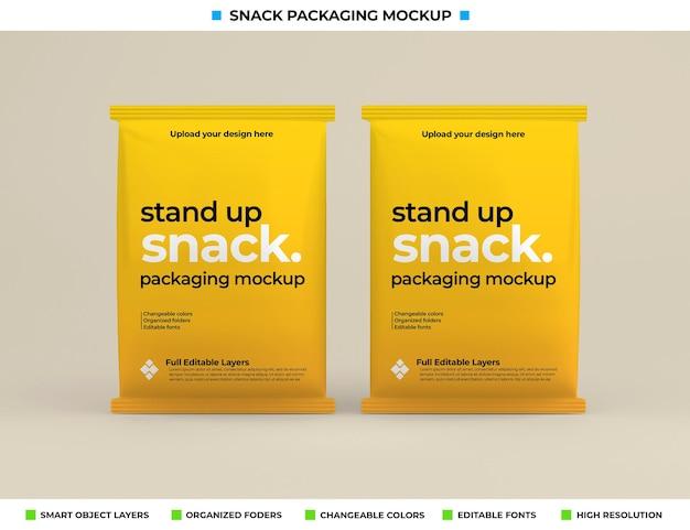 Snackbox verpakking mockup in productconcept