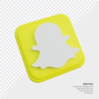 Snapchat isometrische 3d-stijl logo concept pictogram in ronde hoek vierkant geïsoleerd
