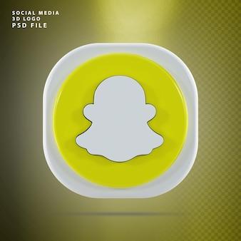 Snapchat-pictogram 3d render-vorm