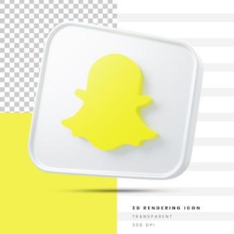 Snapchat sociale media 3d-rendering icoon