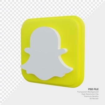 Snapschat isometrische 3d-stijl logo concept pictogram in ronde hoek vierkant geïsoleerd