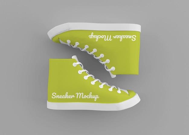 Sneaker mockup ontwerp in 3d-rendering geïsoleerd