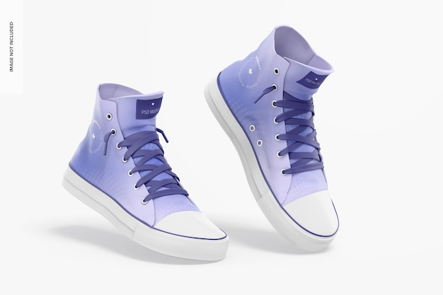 Sneakers mockup, drijvend