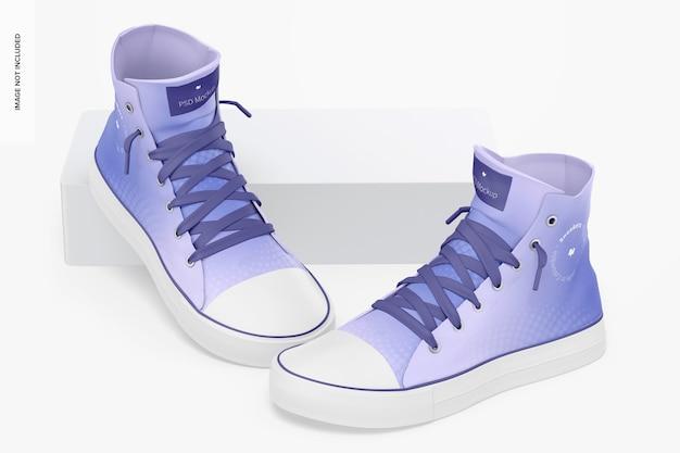 Sneakers mockup, geleund