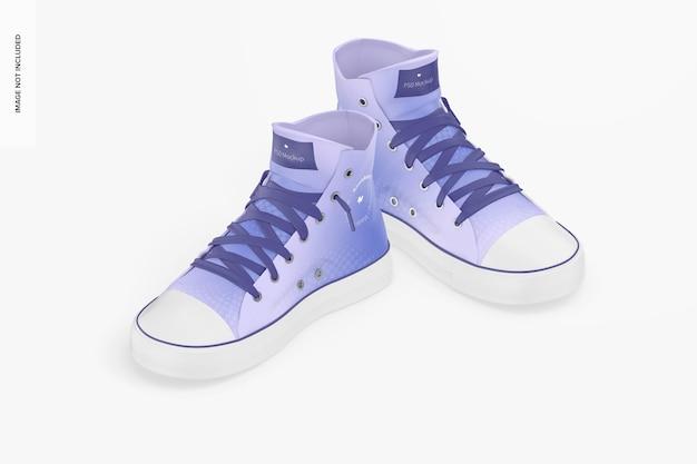 Sneakers mockup, isometrische weergave