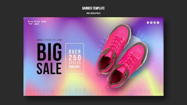 Sneakers verkoop sjabloon banner