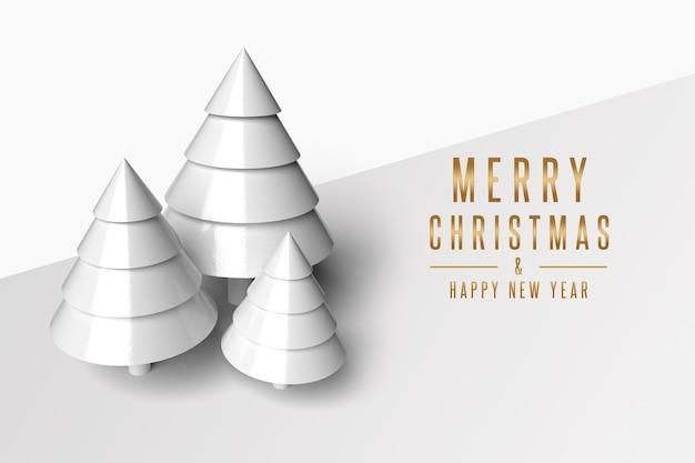 Sneeuw kerstboom rendering mockup geïsoleerd