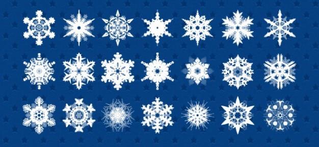 Sneeuwvlokken psd ingesteld