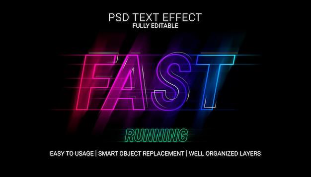 Snel lopende teksteffectsjabloon