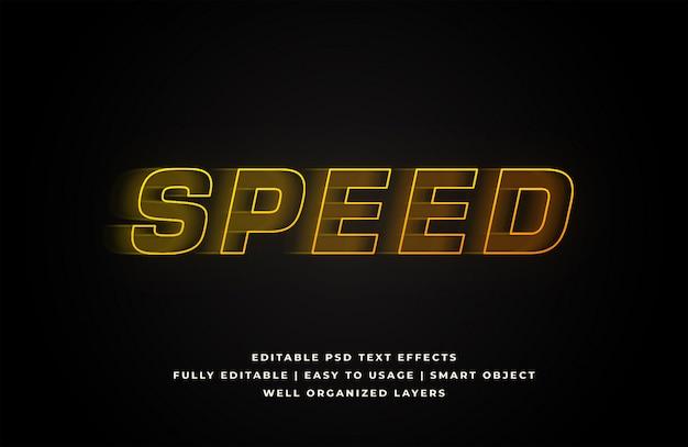 Snelheid effect tekststijl