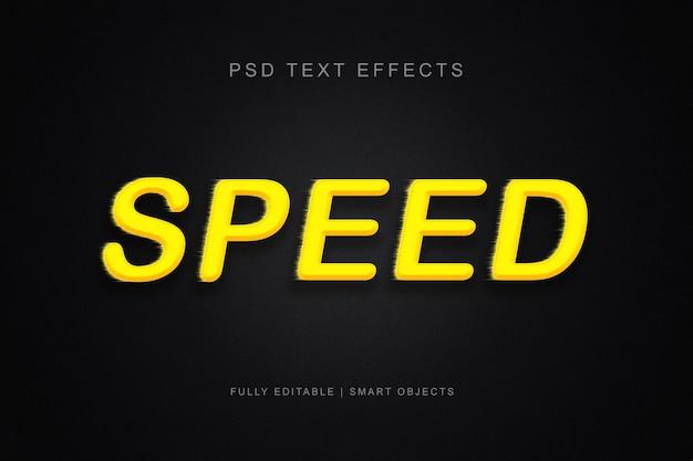 Snelheid teksteffect
