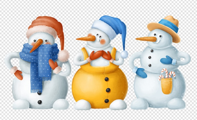 Snowmans psd clipart