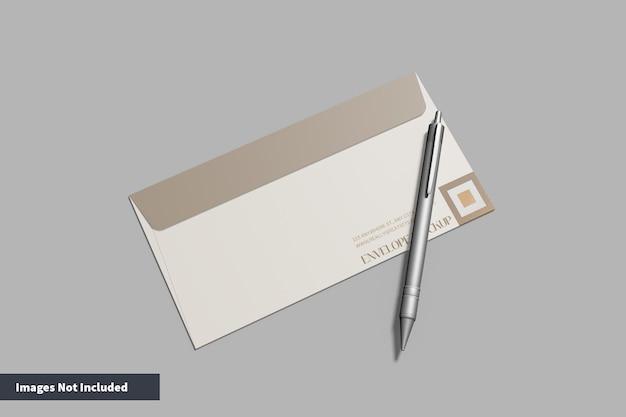 Sobre con maqueta de bolígrafo