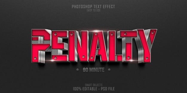 Soccer penalty 3d tekst stijl effect sjabloon