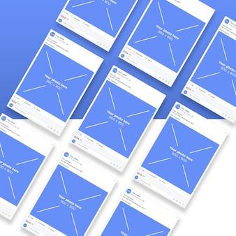 Sociaal netwerk smartphone pagina's mockup