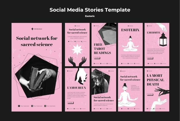 Sociaal netwerk voor heilige wetenschap instagramverhalen