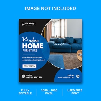 Social media-advertenties voor meubels en instagram-postsjabloonontwerp