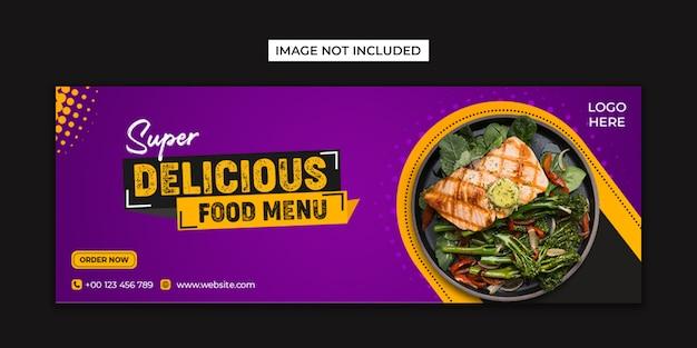 Social media alimentari e modello di copertina di facebook