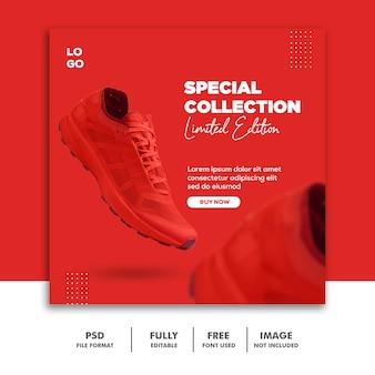 Social media banner post template mode schoenen