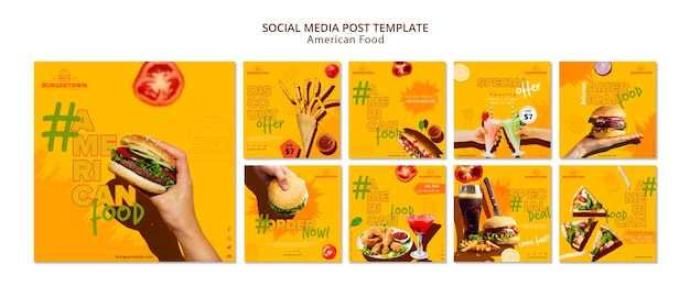 Social media-bericht over amerikaans eten