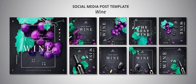 Social media-bericht van wijnbedrijf