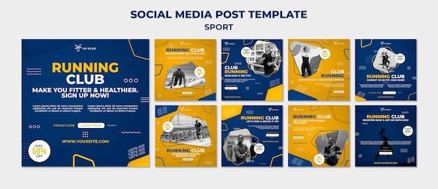 Social media-berichten van de club uitvoeren running