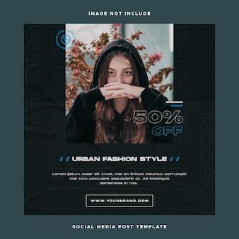 Social media design instagram-sjabloon