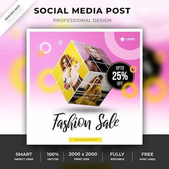 Social media fashion design cubo