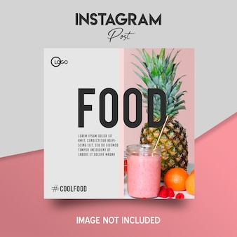 Social media instagram-bericht