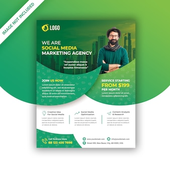 Social media marketing flyer Premium Psd