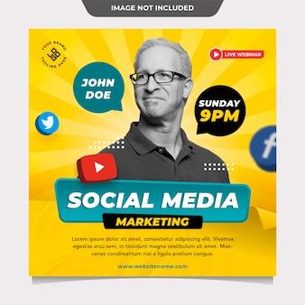 Social media marketing post-sjabloon