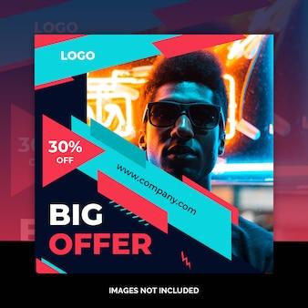 Social media marketing shopping post design