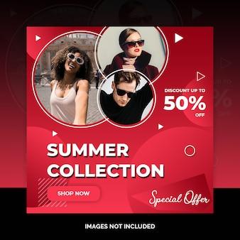Social media marketing shopping post ontwerp