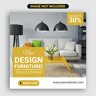 Social media meubels verkoopsjabloon