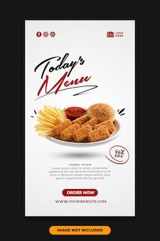 Social media plaatsen instagram verhaalsjabloon restaurant eten