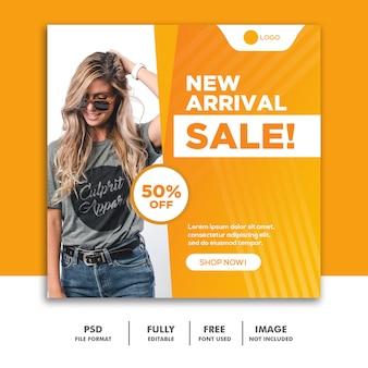 Social media post banner instagram template fashion verkoop