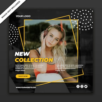 Social media post banner new fashion style mujer