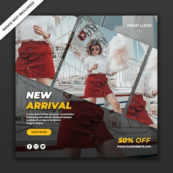 Social media post banner new fashion style vrouw