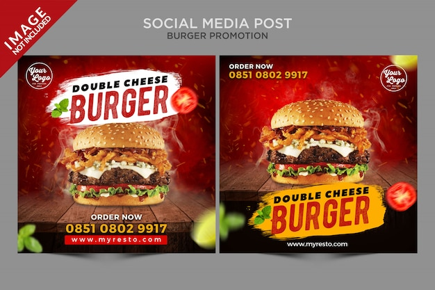 Social media post burger promotion series