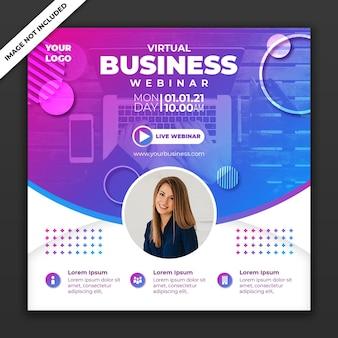 Social media post business banner-sjabloon