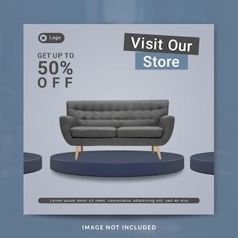 Social media post of bannersjabloon voor meubels