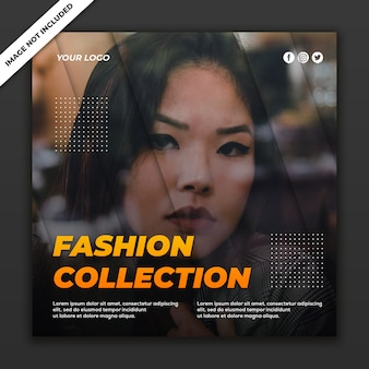 Social media post-sjabloon instagram fashion sale collectie